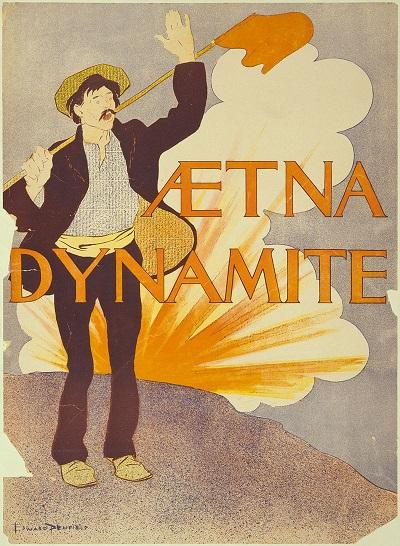 Альфред Нобель. Реклама динамиты