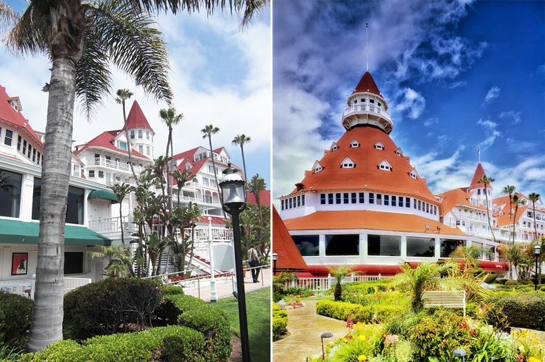 Фасад и башня отеля «Дель Коронадо»