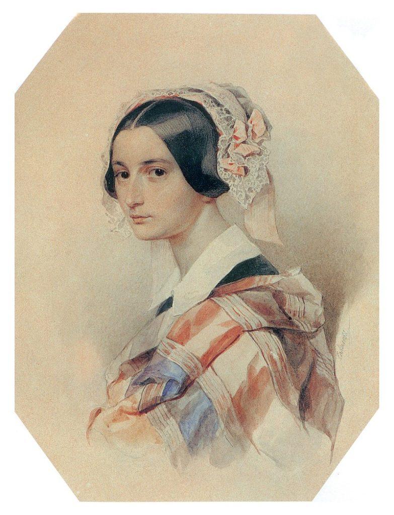 Портрет Александра Осиповна Смирнова-Россет.