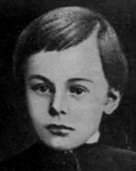 Николай Гоголь-Яновский в детстве