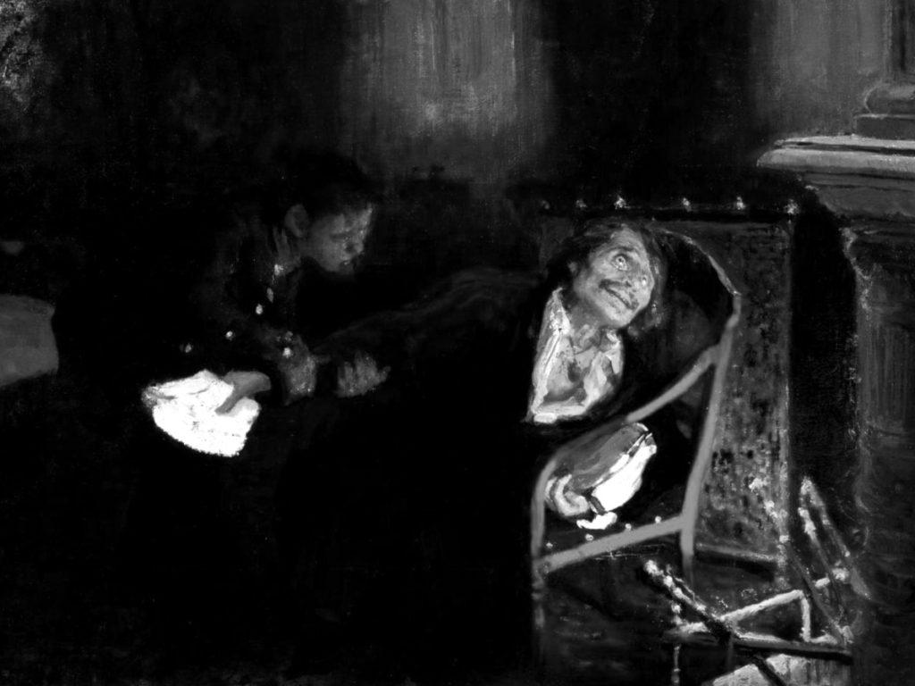 Страница биографии Гоголя.Илья Репин. Николай Гоголь сжигает второй том «Мертвых душ»