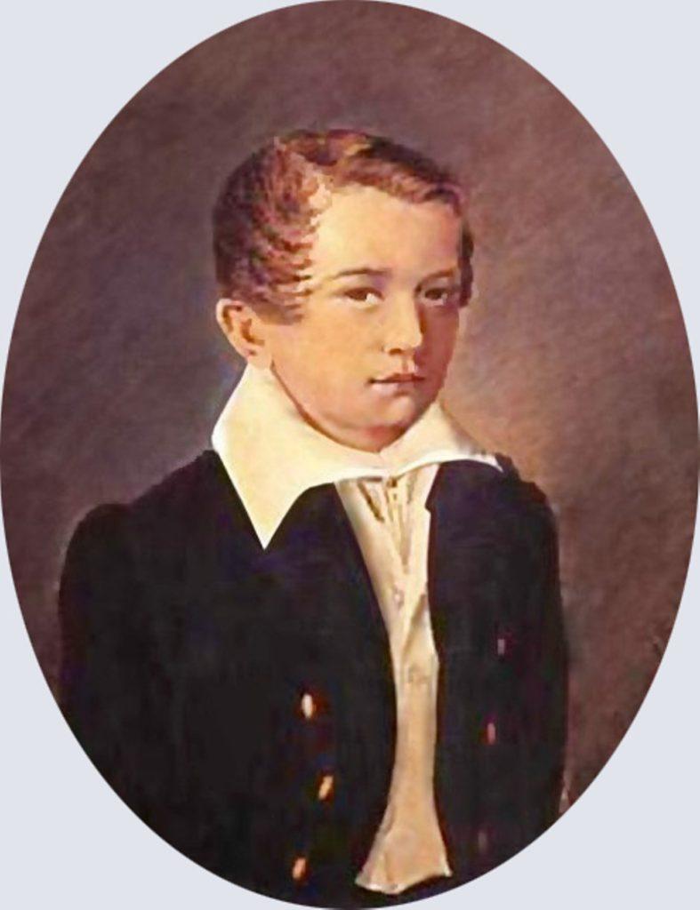 Иван Тургенев в возрасте 12 лет
