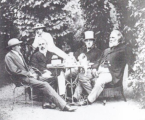 И. С. Тургенев на даче братьев Милютиных в Баден-Бадене, 1867 год. Автор К.Верцингер