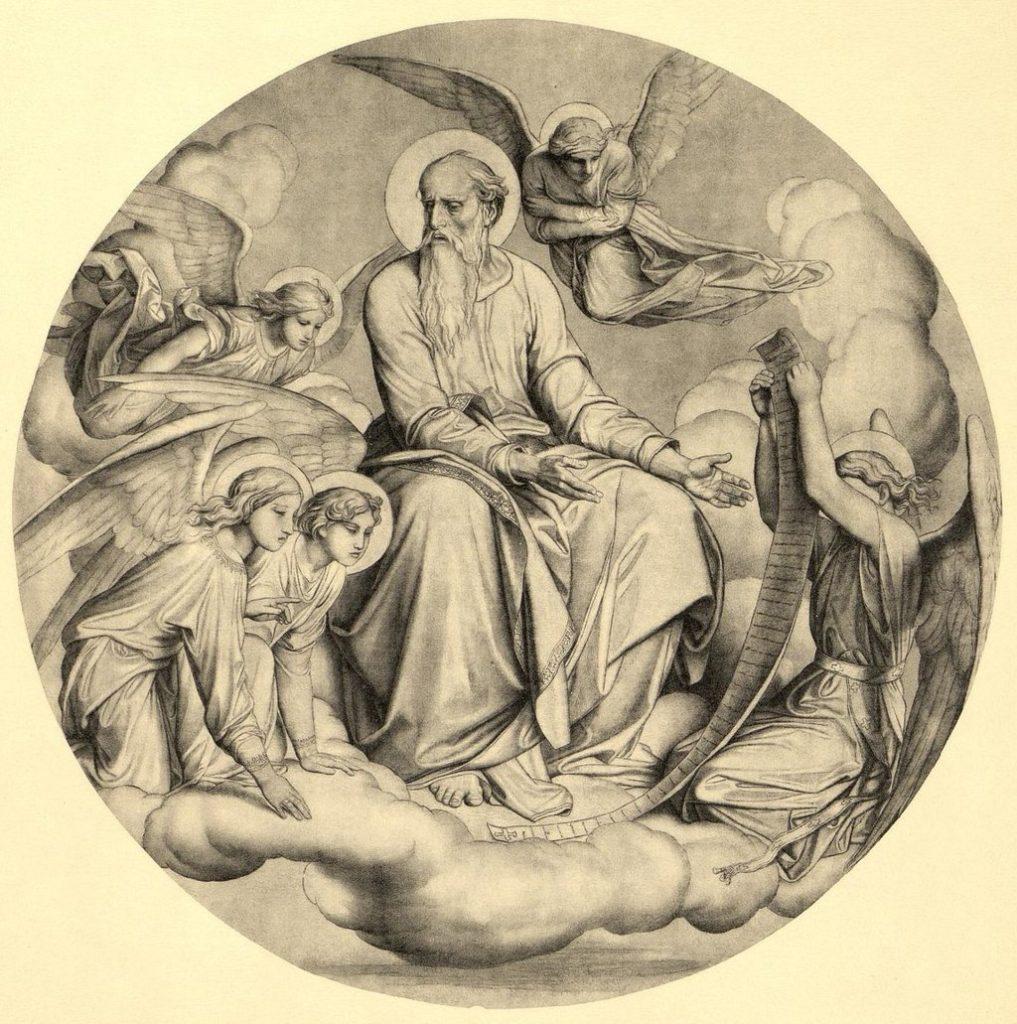 Ф.А. Бруни. Эскиз для Исаакиевского собора - Евангелист Матфей (1840-е гг)