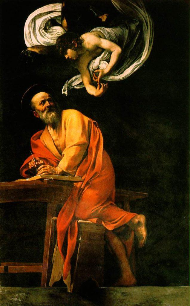 Караваджо. «Святой Матфей и ангел»