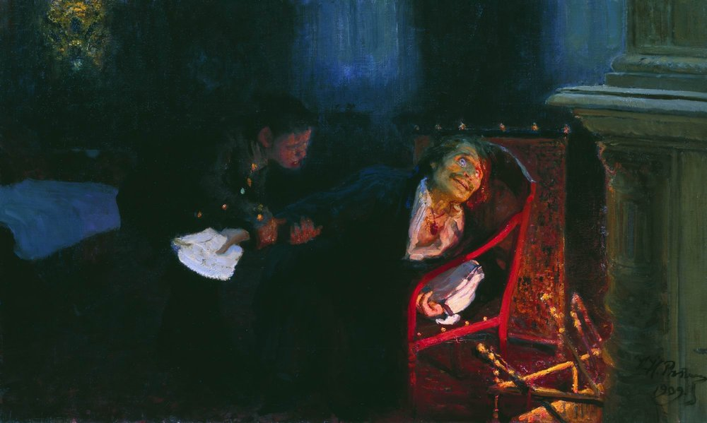 Гоголь сжигает второй том «Мёртвых душ», Илья Репин, 1909