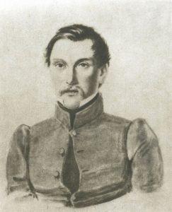 И. И. Пущин, бумага, акварель, частное собрание, Москва