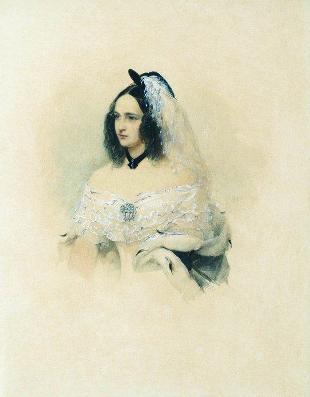 В. И. Гау. Н. Н. Гончарова (Пушкина). 1843