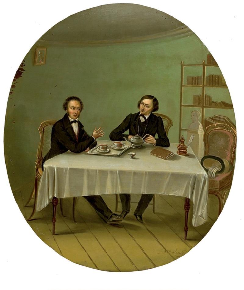 «Пушкин и Гоголь» (художник Николай Алексеев)