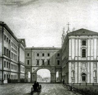Лицей на рисунке XIX века