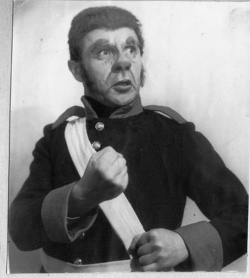 Виктор Лукин в роли Держиморды 1952 год/фото из архива Лукино Е