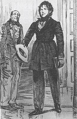 Первое появление Рудина у Ласунской. Иллюстрация Д. Н. Кардовского