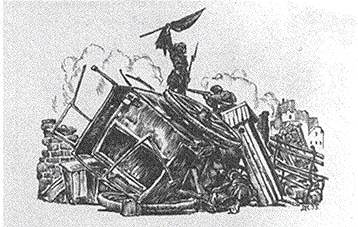 Рудин на баррикадах. Иллюстрация Д. Н. Кардовского
