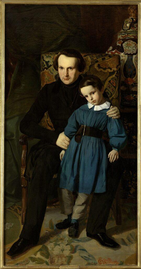 Виктор Гюго со своим сыном Франсуа-Виктором (1836)