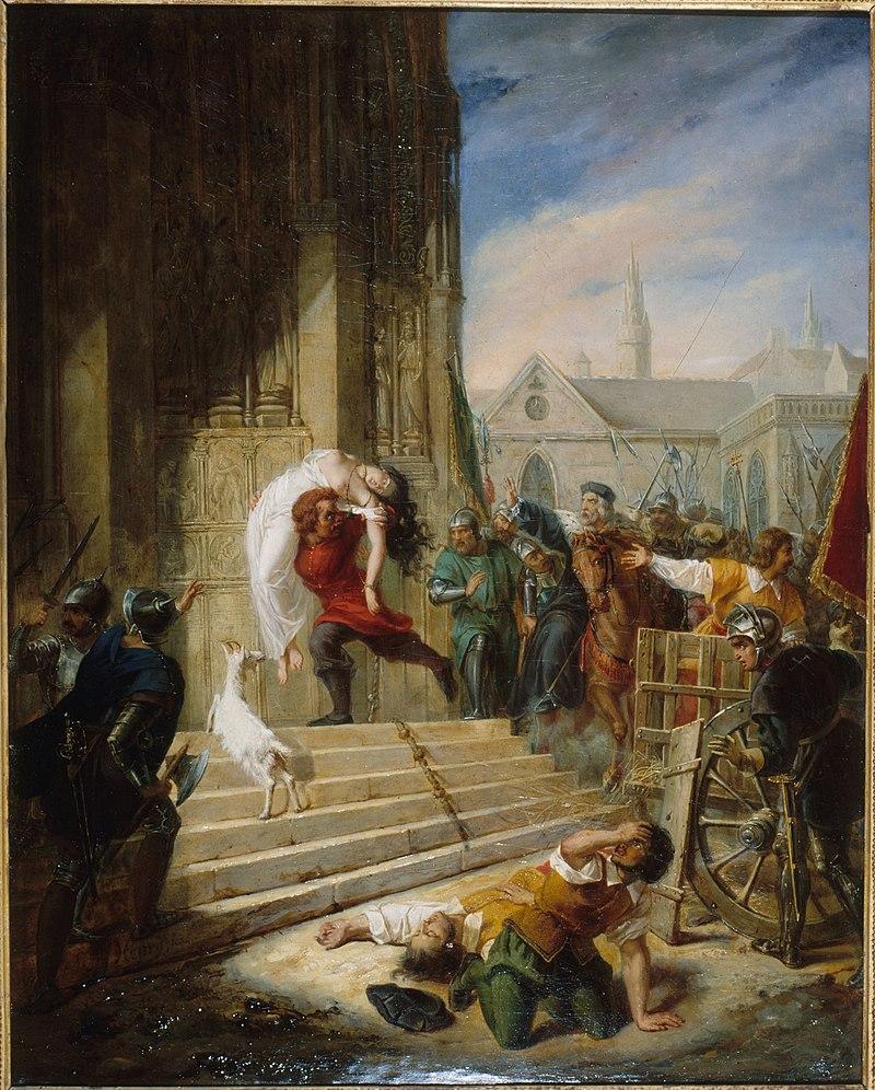 Квазимодо спасает Эсмеральду от рук палачей. Mlle Henry (1790-1873). Дом-музей Виктора Гюго