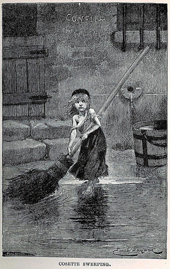 Козетта — героиня романа «Отверженные». Иллюстрация Эмиля Баяра