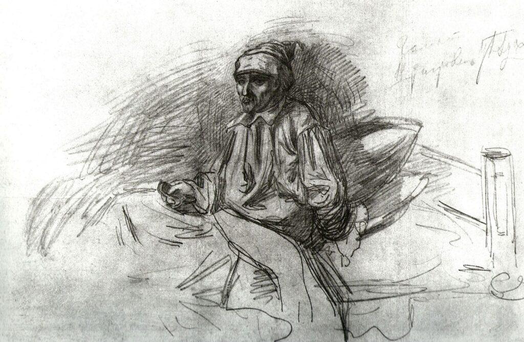 Собственноручный рисунок Тургенева к рассказу «Гамлет Щигровского уезда»