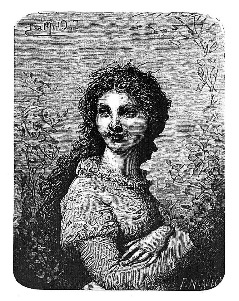 Дерюшетта, иллюстрация к роману «Труженики моря», Французская национальная библиотека, E. Hugues 1883 (Париж)