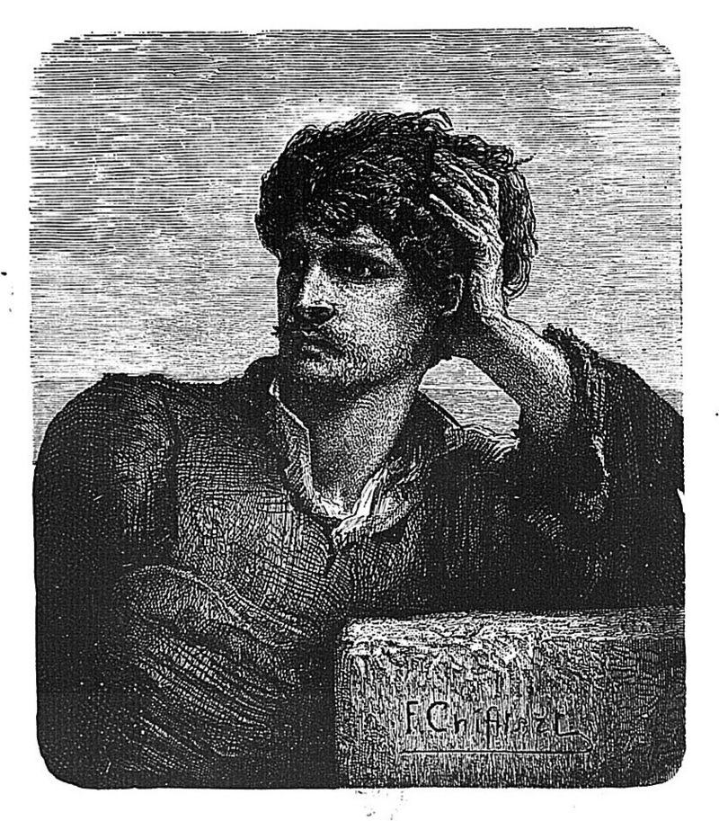 Жильят, иллюстрация к роману «Труженики моря», Французская национальная библиотека, E. Hugues 1883 (Париж)