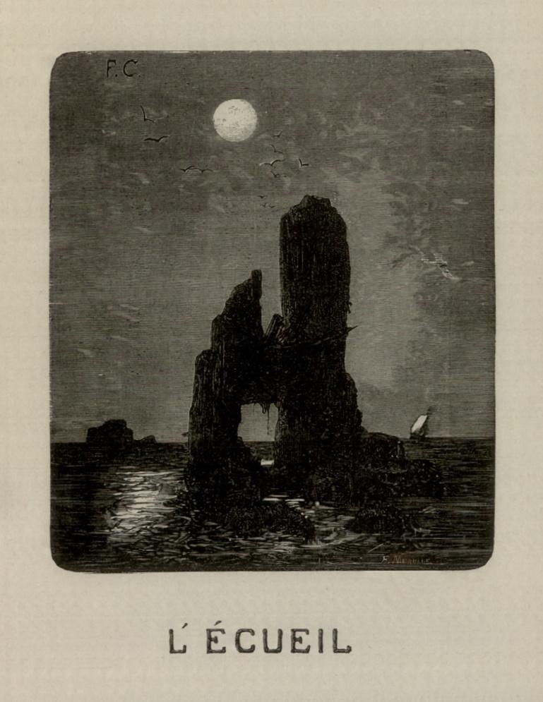 Иллюстрация к роману «Труженики моря» Виктора Гюго
