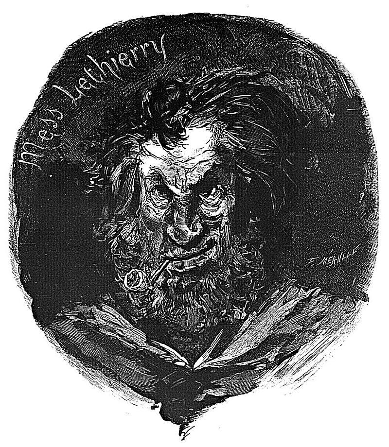 Месс Летьери,  иллюстрация к роману «Труженики моря», Французская национальная библиотека, E. Hugues 1883 (Париж)