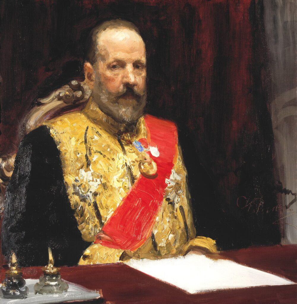 Витте на портретных зарисовках И. Е. Репина
