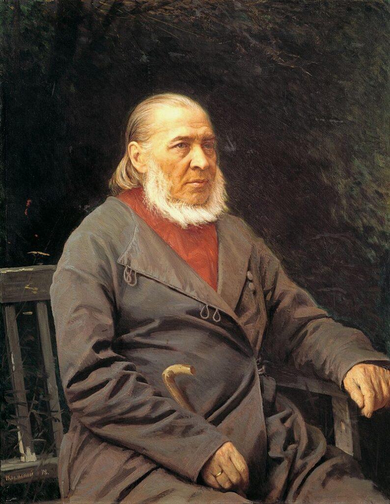 Сергей Аксаков. Портрет. Автор Иван Николаевич Крамской