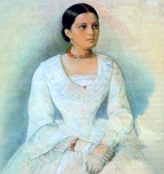 Авдотья Панаева. Автор Кирилл Антонович Горбунов (1815-1893)