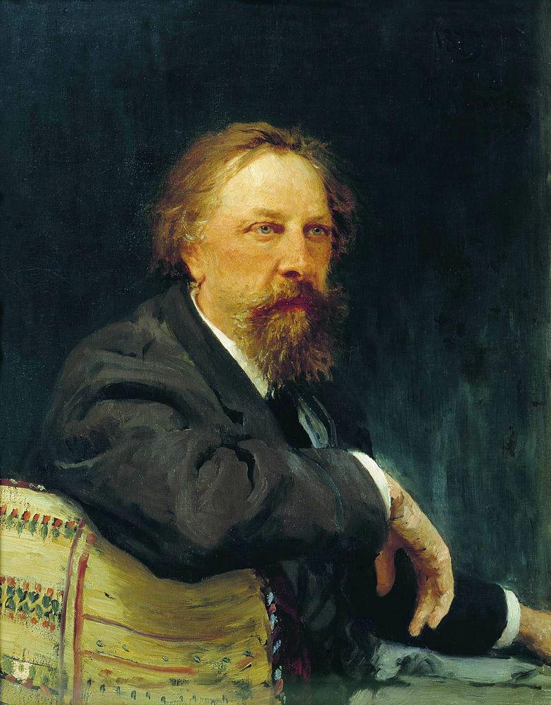 Алексей Константинович Толстой - портрет кисти И.Е. Репина, масло, холст, 1879