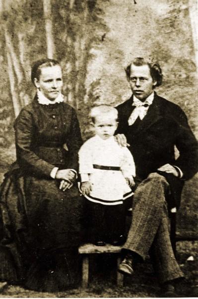 Павел Бажов с родителями