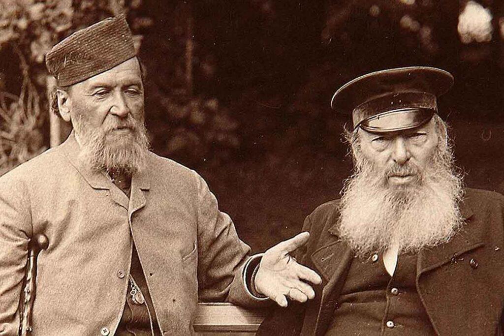 Афанасий Фет с другом, поэтом Яковом Полонским. Конец 1880-х